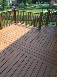Cross Design Back Deck