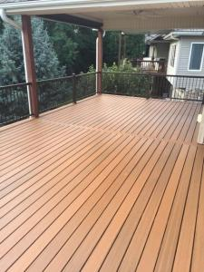 Wood Back Deck